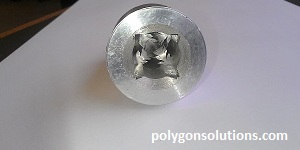 Aluminum Chips shown after Rotary Broaching