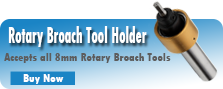 Rotary Broach Tool Holder for 8mm Shank Rotary Broaches