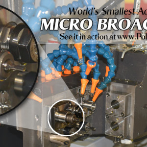 Micro Rotary Broach Tool Holder in Swiss Lathe