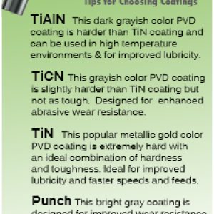 Rotary Broach Coating Types