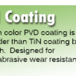 TiCN Coating for Rotary Broaches