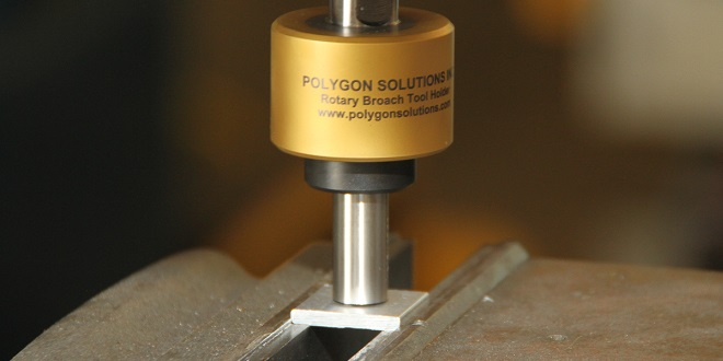 Polygon Solution's Innovative Rotary Broach in a turning machine