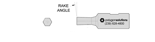 Rotary Broach Custom Rake Angle
